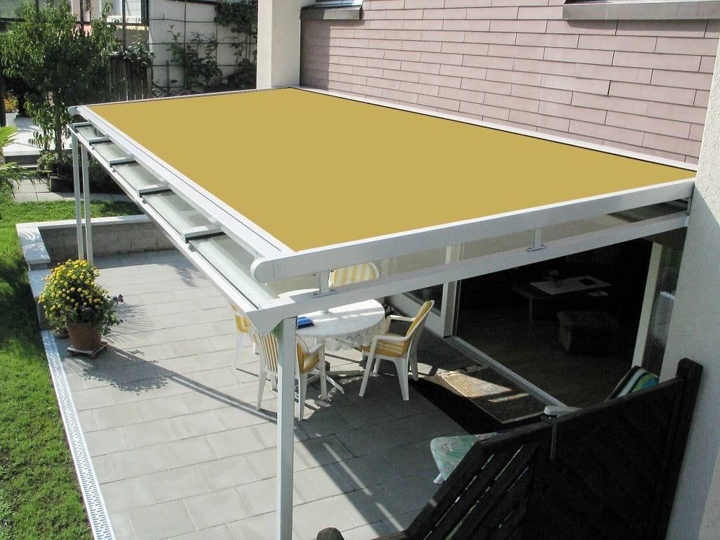 Toldos veranda para jardines de invierno y techos de cristal for Toldos para techos
