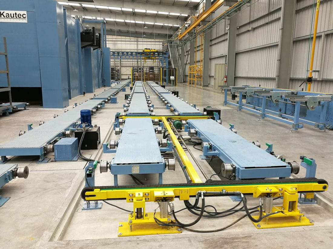 Skip transportation conveyors system