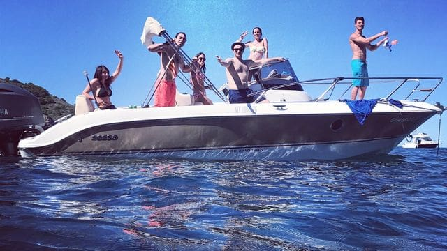 This boat is for demanding customers, a beautiful boat, rent it at Estartit Rent A Boat