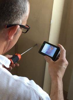 Estudi tèrmic amb càmera endoscòpica