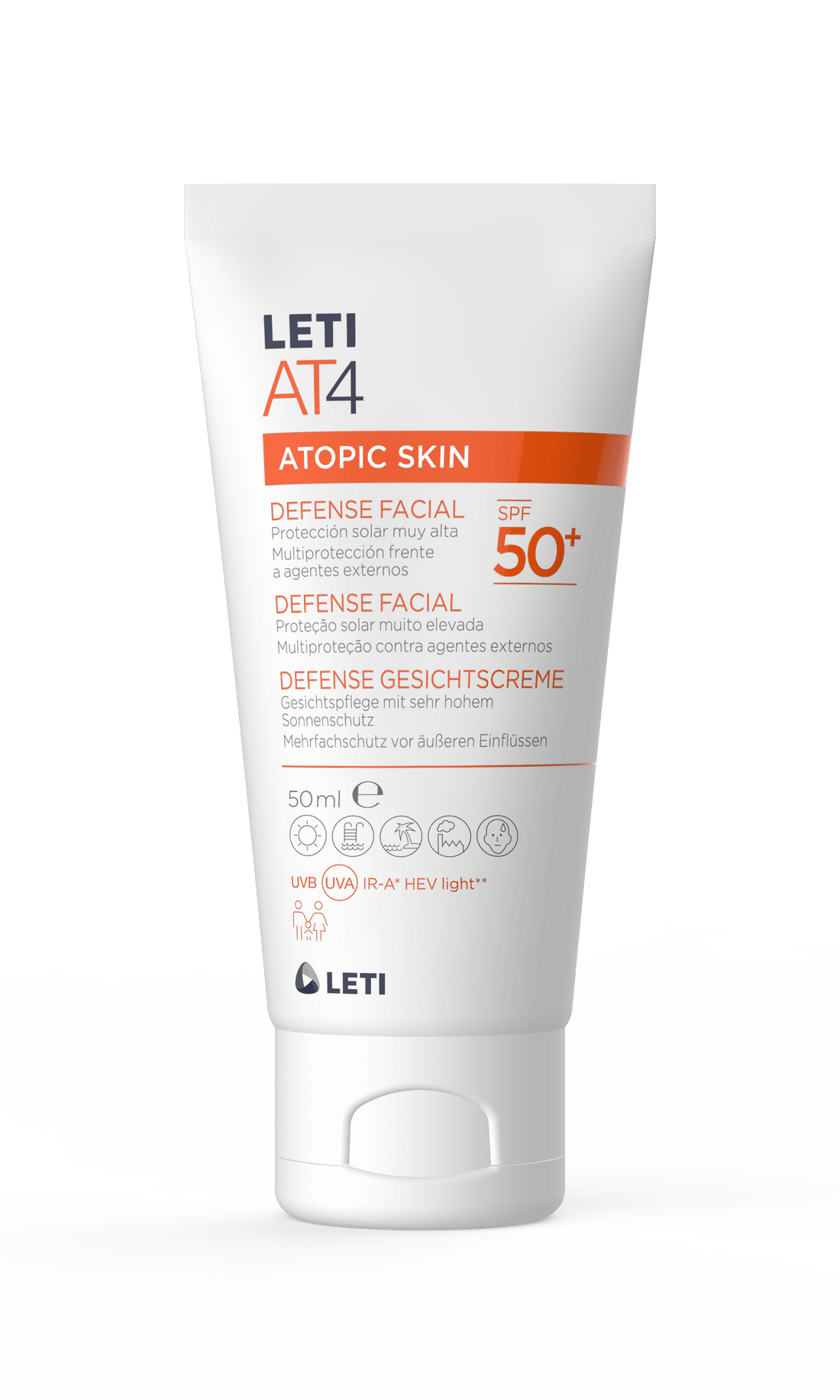 Leti AT4 Defense Crema Facial SPF50+ 50ml