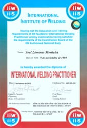 International Welding Inspector