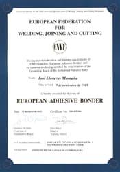 International Bonding Certificate