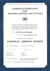 International Bonding Certificate