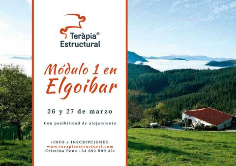 Módulo 1 de Teràpia Estructural en ELGOIBAR, 26 y 27 de marzo