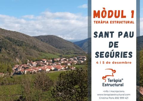 Módulo 1 de Teràpia Estructural en SANT PAU DE SEGÚRIES, 4 y 5 de diciembre