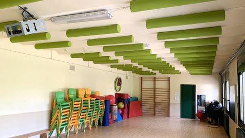 Acondicionamiento sala polivalente/gimnasio y comedor de la Escuela St. Pere Monistrol de Montserrat