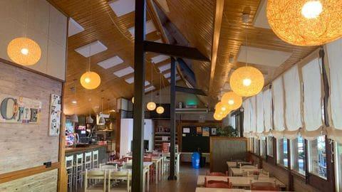 Tratamiento acústico en el restaurante del Camping Xenturri