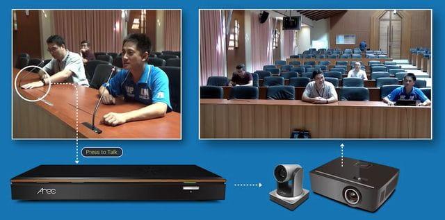 Vista automática para captar a varios participantes cuando hablan a la vez.