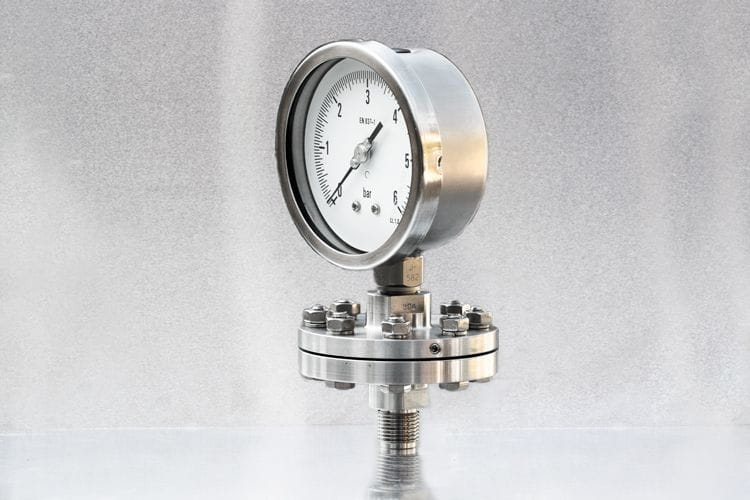 AbCo diaphragm seal for 1/2'' pressure gauges