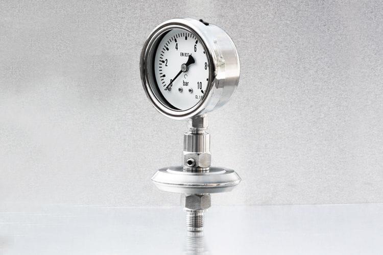 Separador de fluidos para manómetros ¼'' AbCo