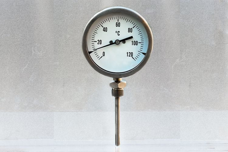 Stainless steel bimetall temperature gauges
