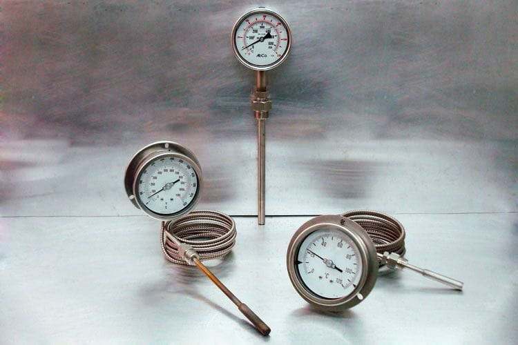 AbCo gas-actuated temperature gauges