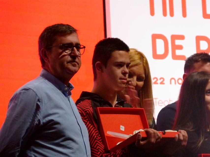 Recogida del premio