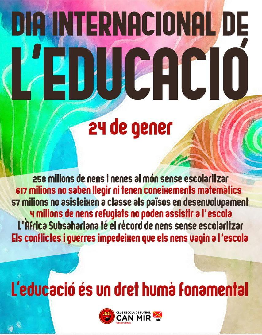 #CEFCanMir 24 de gener.Dia Internacional de l'Educació