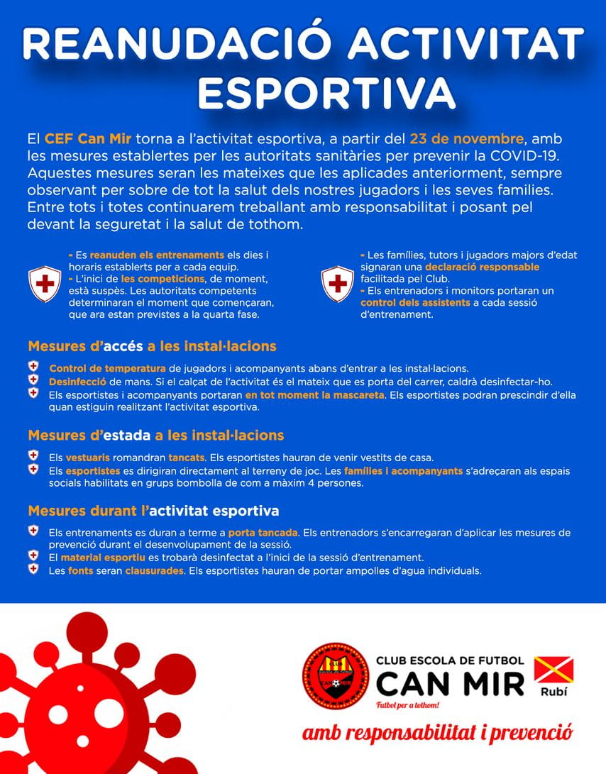 #CEFCanMir Reanudacio Activitat Esportiva