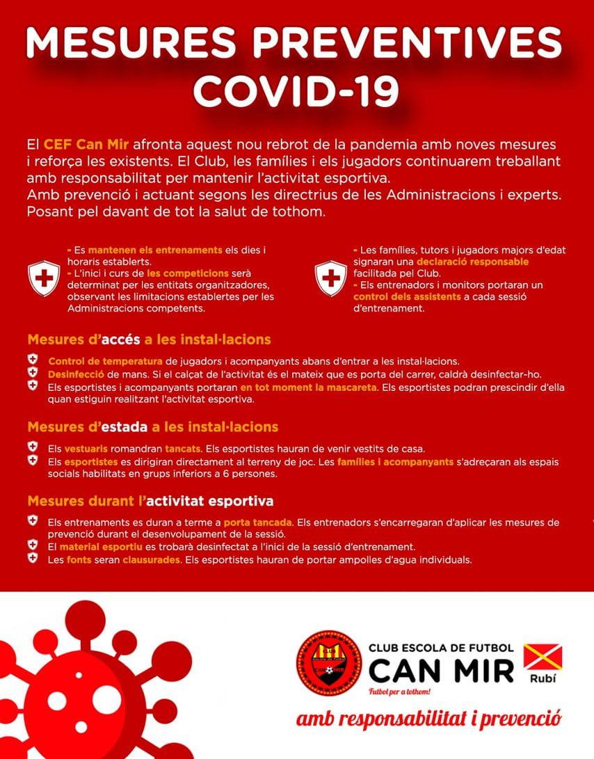 #CEFCanMir Mesures preventives Covid - 19