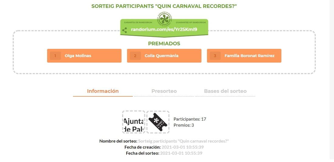 guanyadors carnaval