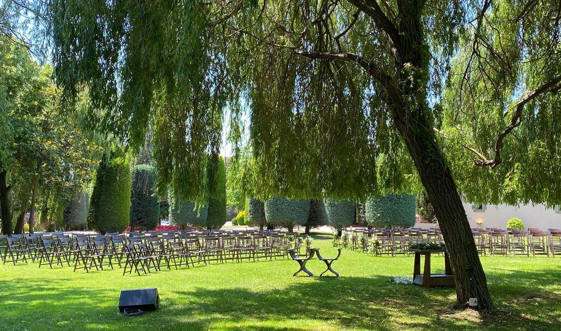 Ceremonias exteriores junto a nuestro magnífico sauce