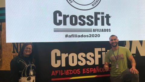 Los propietarios de Crossfit Tramunatana en la reunión de afiliados españoles de Crossfit
