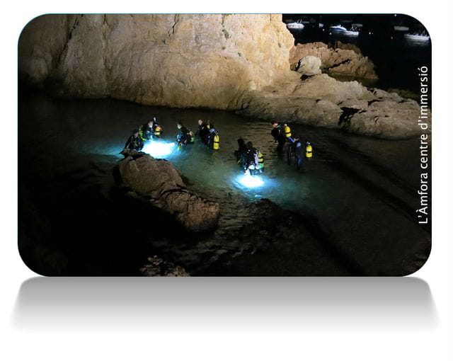 Buceo nocturno en Tossa de Mar, Costa Brava