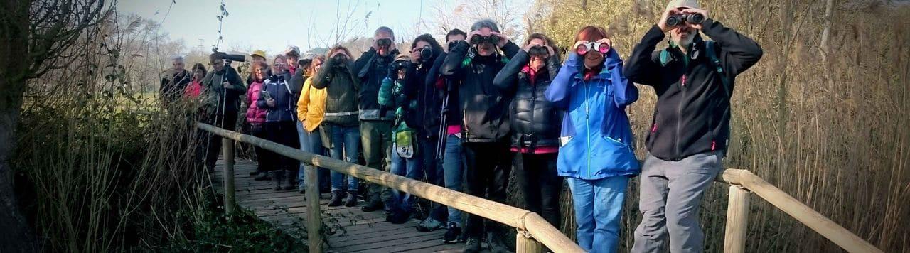 El nodrit grup d'alumnes de la Universitat Popular de Caldes Montbui en la primera sortida del curs (març 2020)