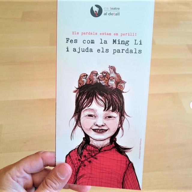 Col·laboració amb l'edició d'un tríptic per l'obra La nena dels Pardals.