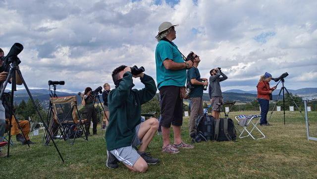 Els participants van estar dos dies escrutant el cel sense descans