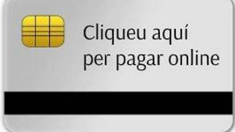 Pagament per internet amb targeta de cartes de pagament amb codi de barres