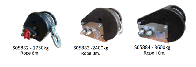 Winches with ropes