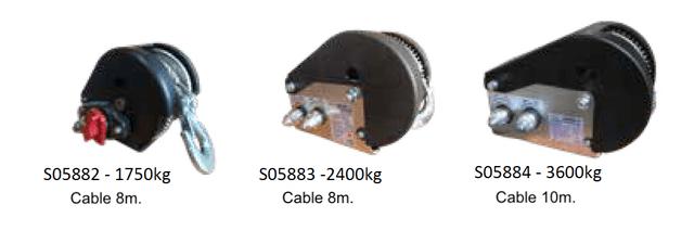 Cabrestantes con cable