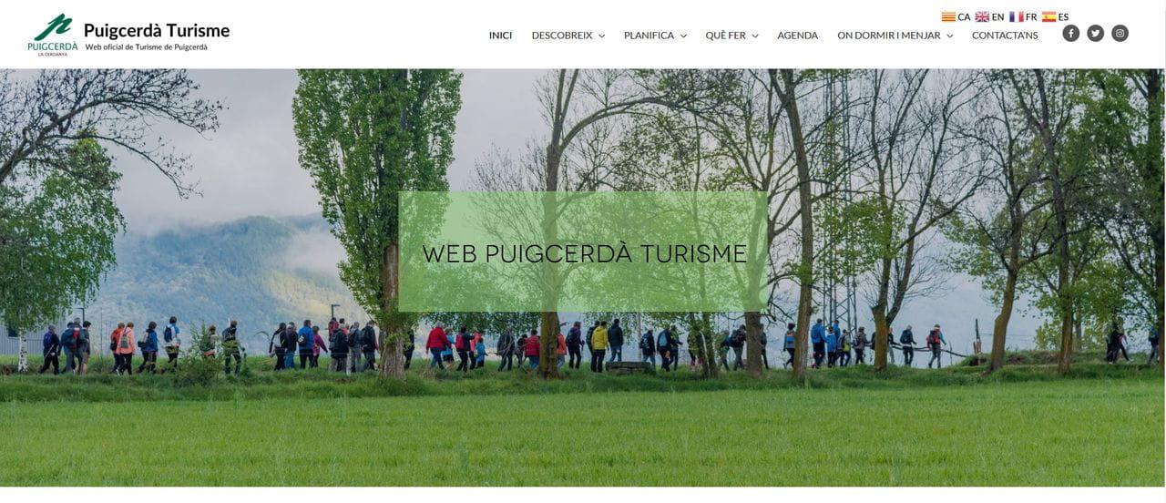 Web de l'Àrea de Turisme de l'Ajuntament de Puigcerdà
