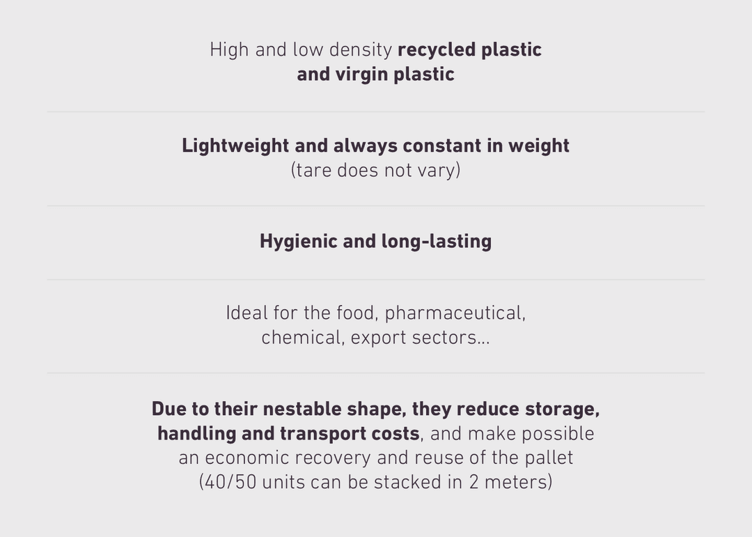 High and low density recycled plastic 