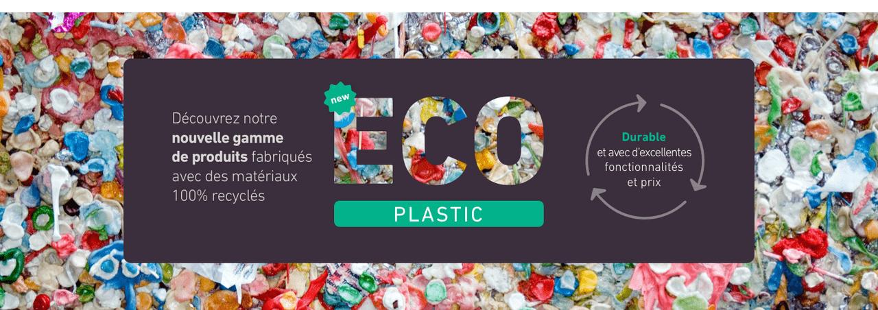 Découvrez notre nouvelle gamme de produits fabriqués avec des matériaux 100% recyclés
