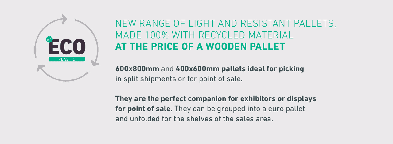 New range of light and resistant pallets, 