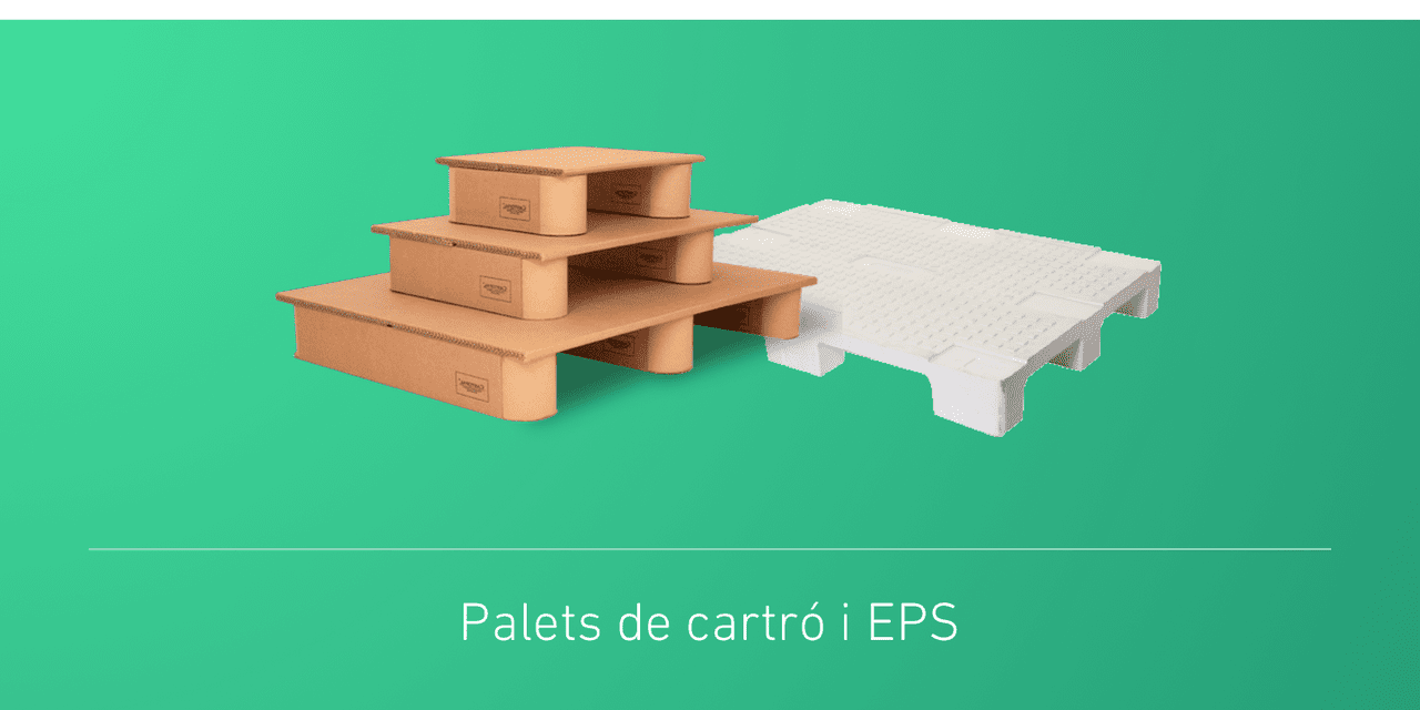 Palets de cartró i EPS
