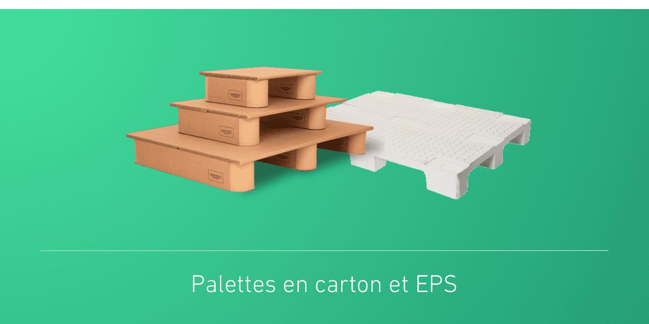 Palettes en carton et EPS