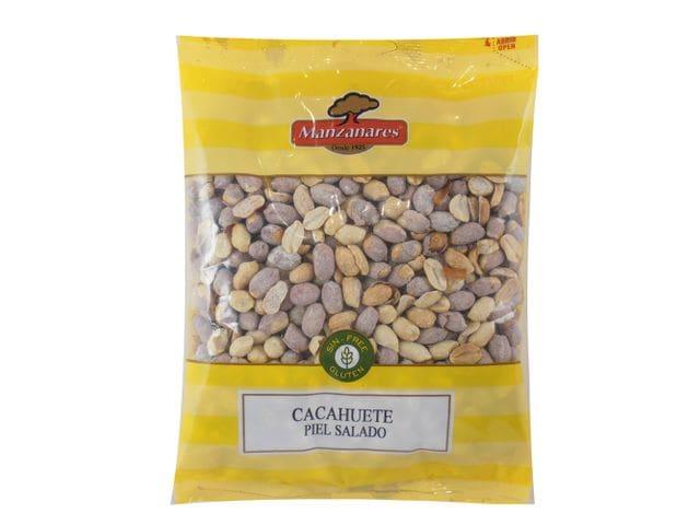 Cacahuete Piel Tostado Saladillo 500 Gr Manzanares