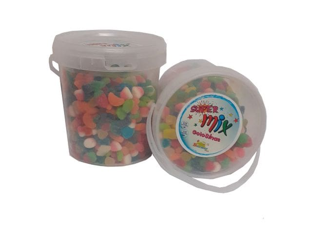 Golosina Super Mix Gomas con Azúcar Tarro 2 Kg Burmar