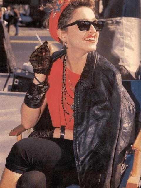 La cantant Madonna amb un look rock