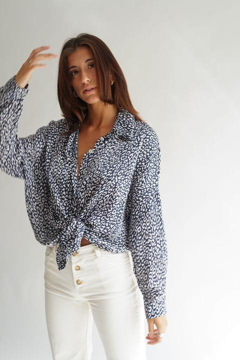 Camisa oversize estampada