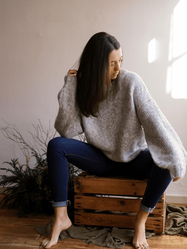 En la moda actual, también se llevan los jerséis de punto de estilo oversize