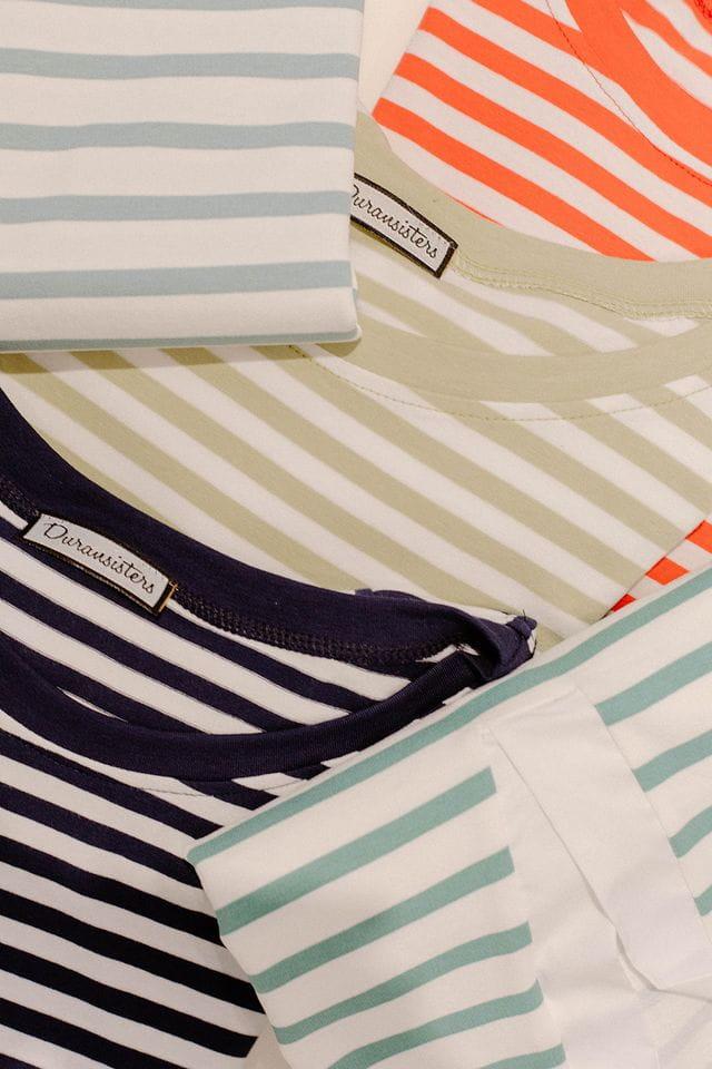 Las camisetas de rayas, parte de la colección de primavera.
