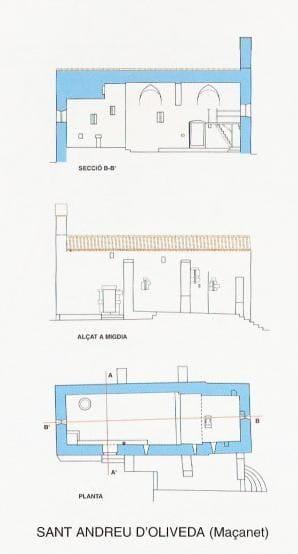 """Imatge extreta """"30 edificis religiosos romànics de l'Albera"""" realitzat  per Amics dels Parcs Naturals de l'Albera i Cap de Creus."""