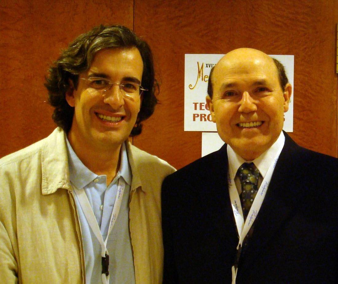Dr. Rafael Gálvez con el Dr.Nácul