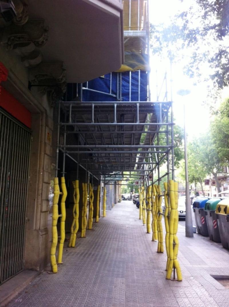 Montaje andamio en Barcelona