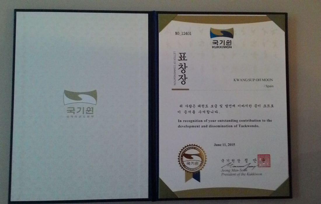 Reconeixement Federació Mundial Taekwondo ,Kukkiwon