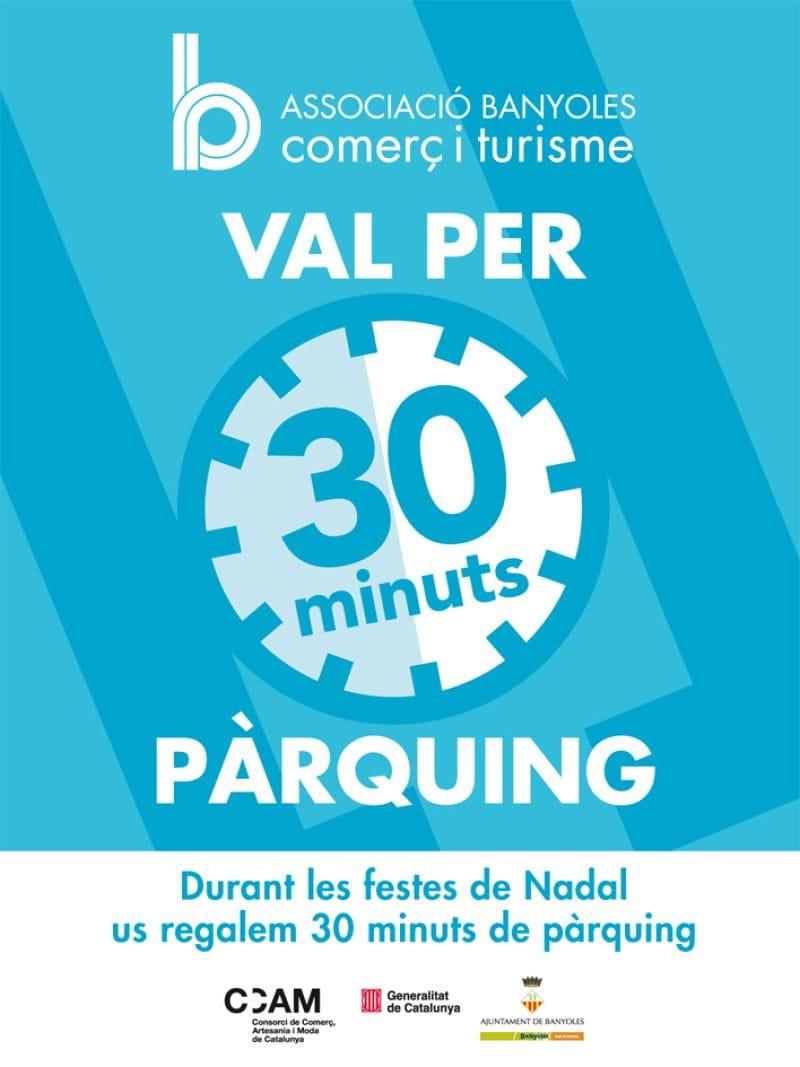 30 minuts d'aparcament gratuïts per cada compra