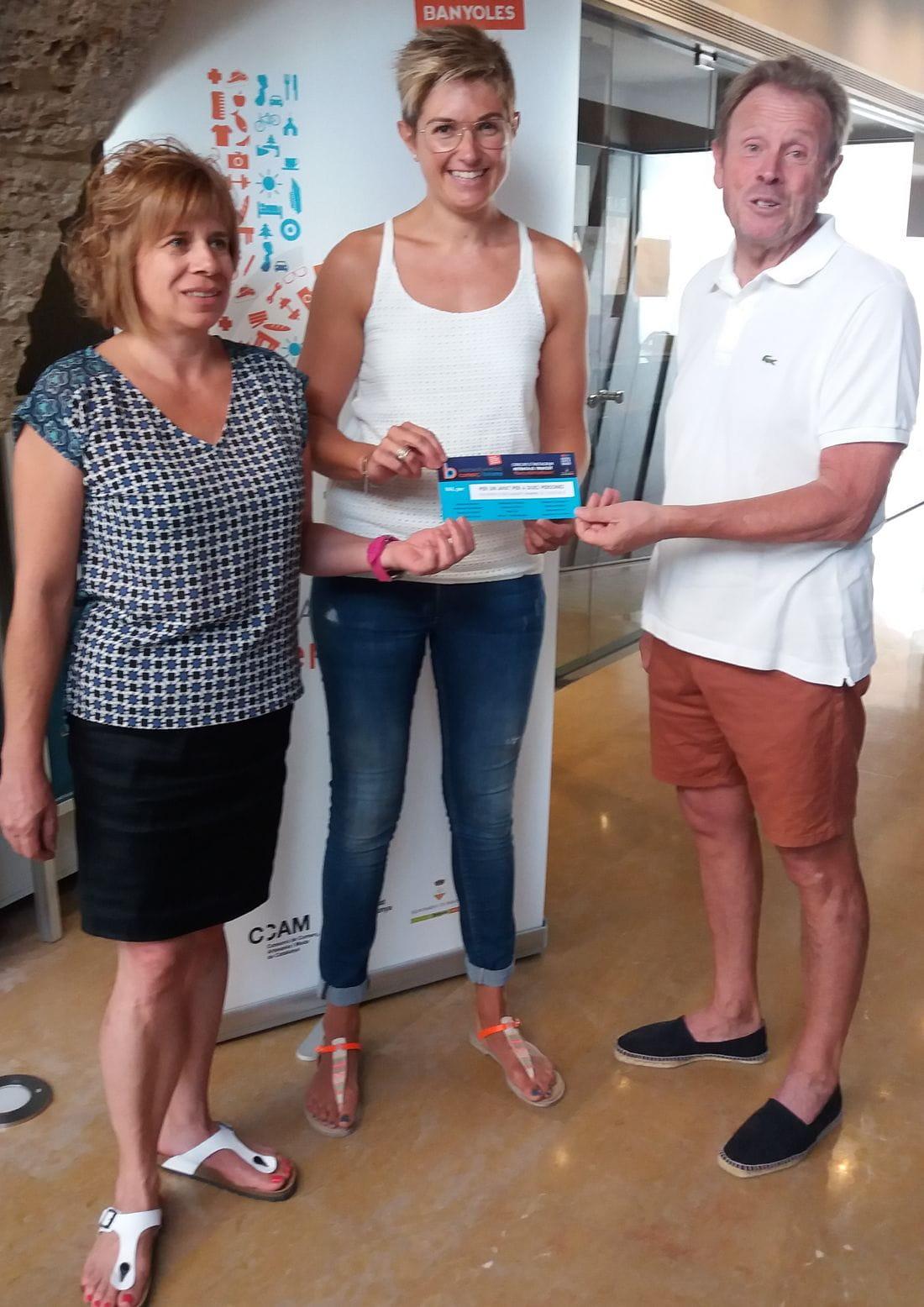 Entrega del premi a la guanyadora, Carla Quera