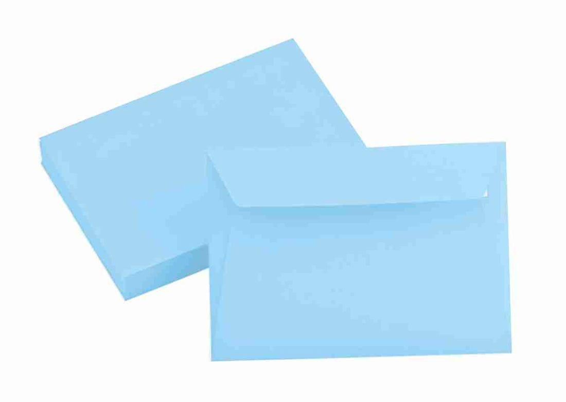 light blue envelope